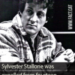 How many times was Sylvester Stallone expelled from school?