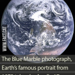 An upside down portrait of Earth