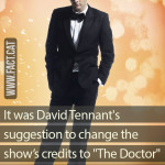 "Who suggested to change the credits of ""Doctor Who""?"