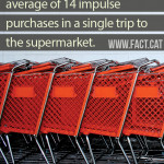 How many impulse purchases do shoppers make?
