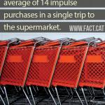 How many impulse purchases do shoppers make?