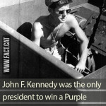 Which American president won a Purple Heart?