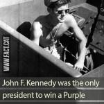 Which American president won a Purple Heart?
