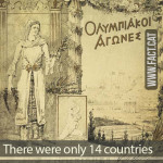 How many countries participated in the first Modern Olympics?