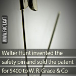 How much was the safety pin patent sold for?