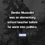 Benito Mussolini's other occupations
