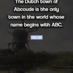 What is the only town whose name begins with ABC?