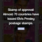 How many countries featured Elvis on postage stamps?