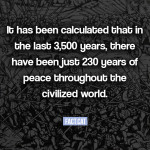 How many years of peace were recorded in history?