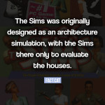 What was the original idea behind The Sims?