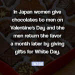 How is Valentine's Day celebrated in Japan?