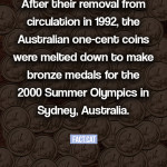 What happened to the Australian one-cent coins?