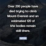 How many people have died trying to climb Mount Everest?