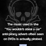 Anti-piracy ad features pirated song